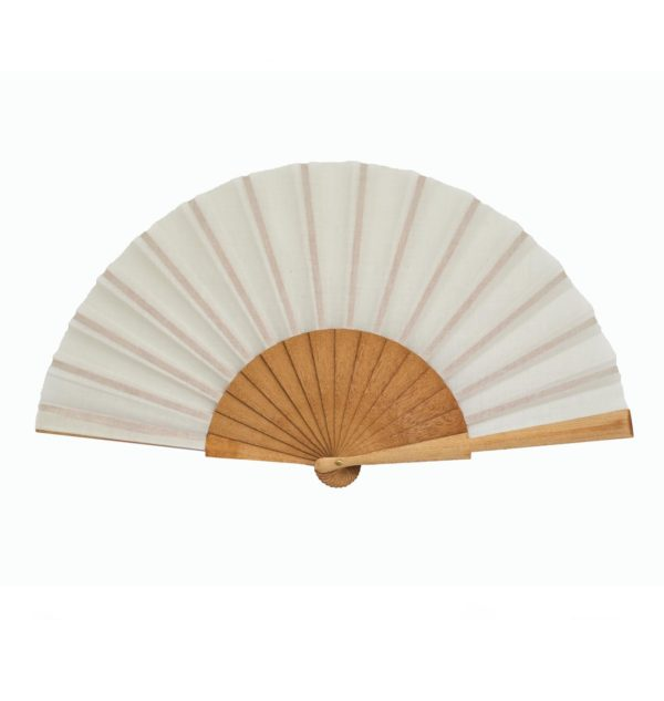 plain white hand fan