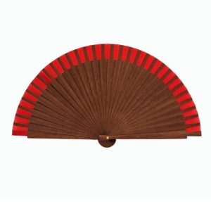 small red hand fan